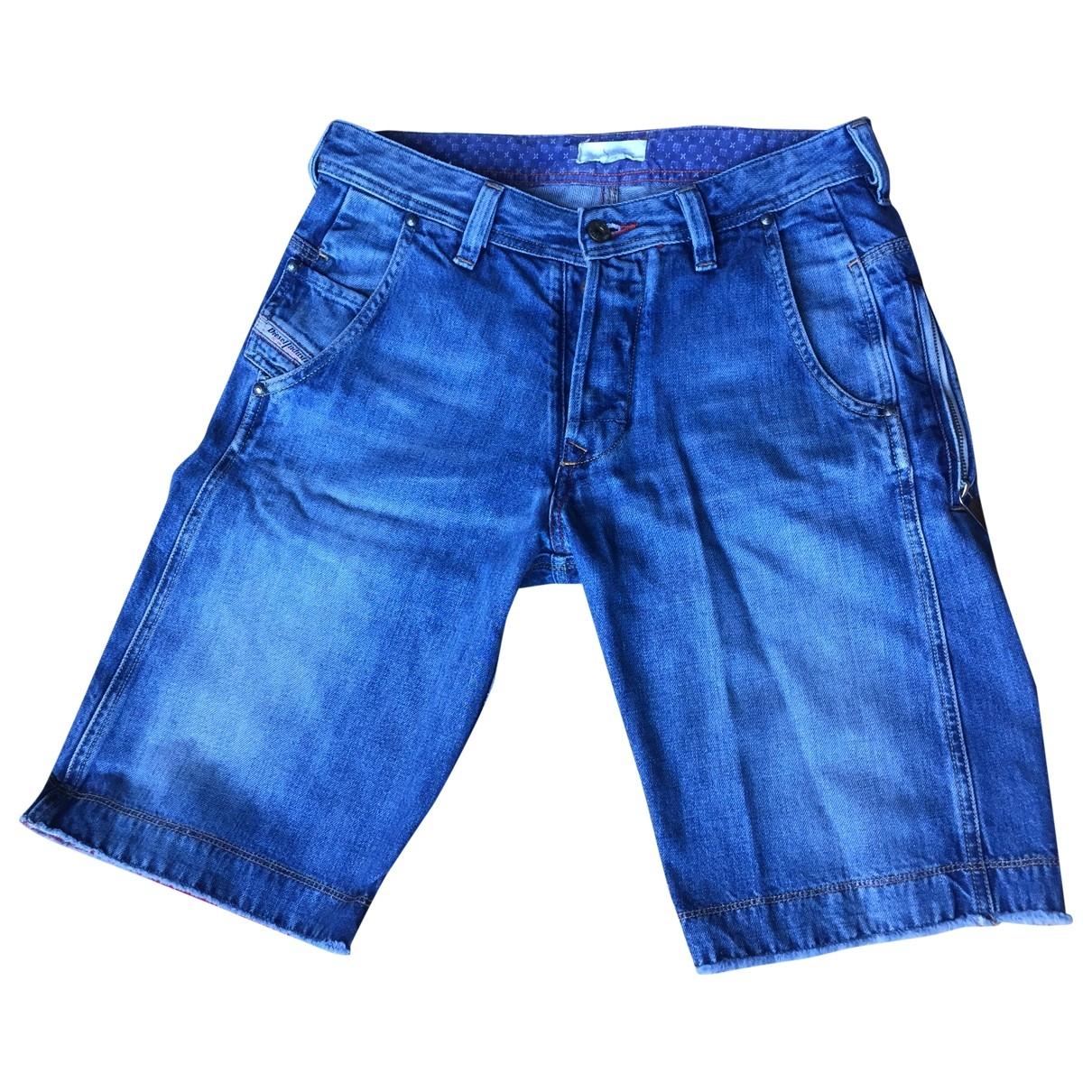 Diesel - Short   pour homme en denim - bleu