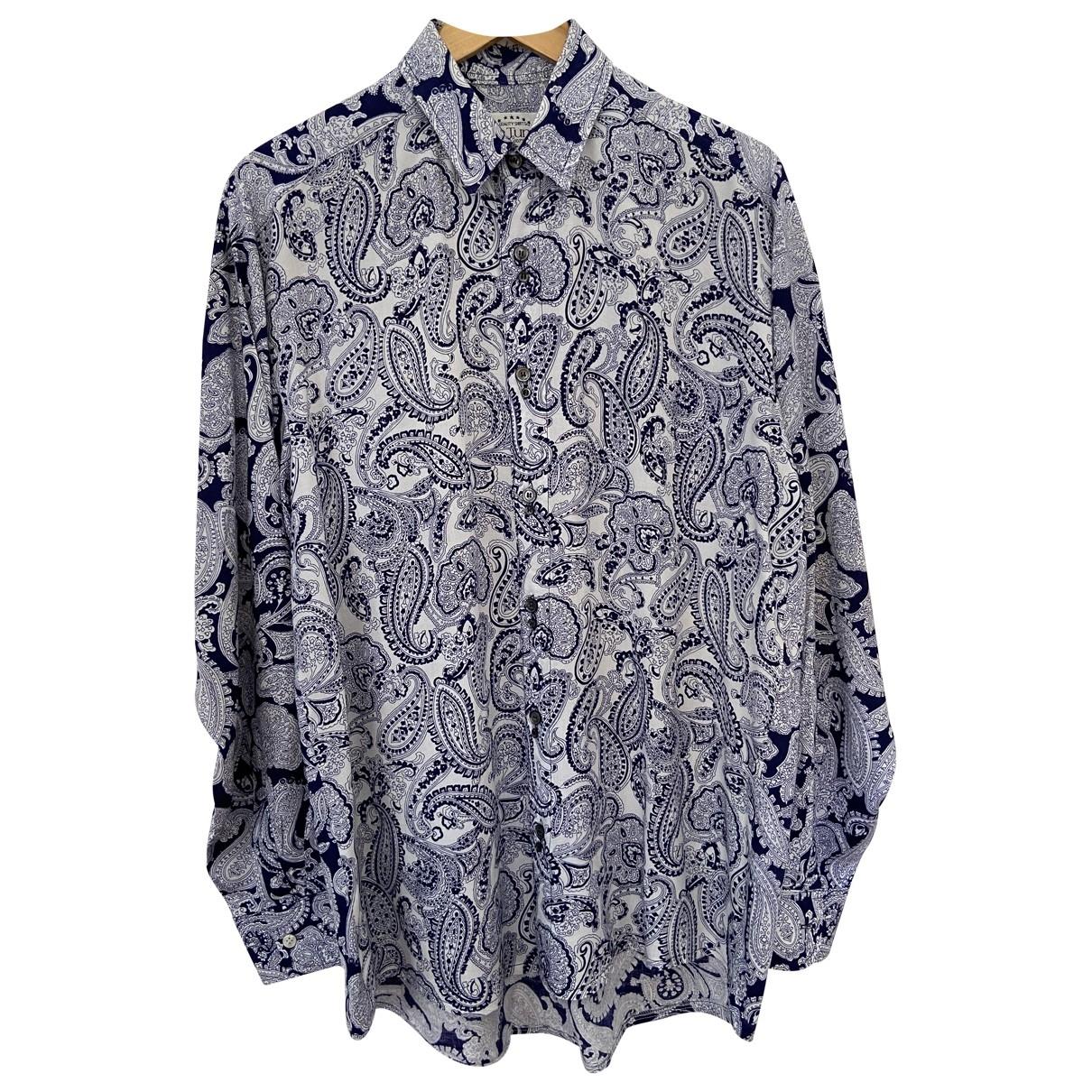 - Chemises Oversize pour homme - bleu
