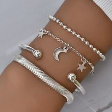 4pcs Star Moon Decor Bracelet