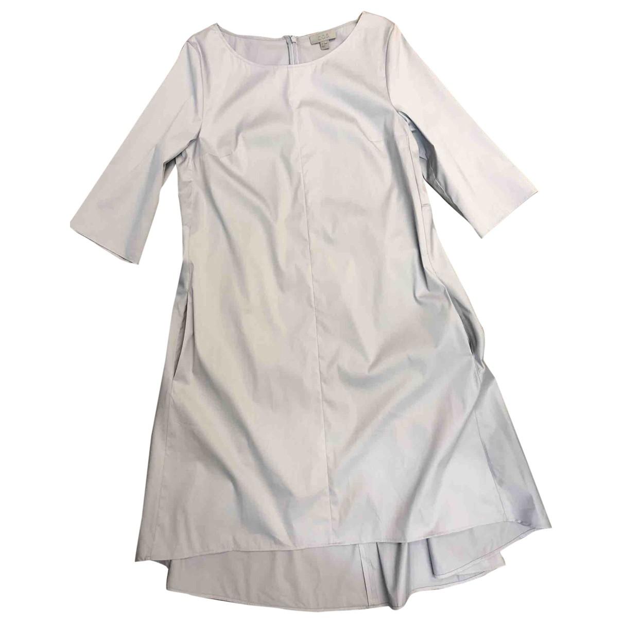 Cos \N Blue Cotton - elasthane dress for Women 38 FR