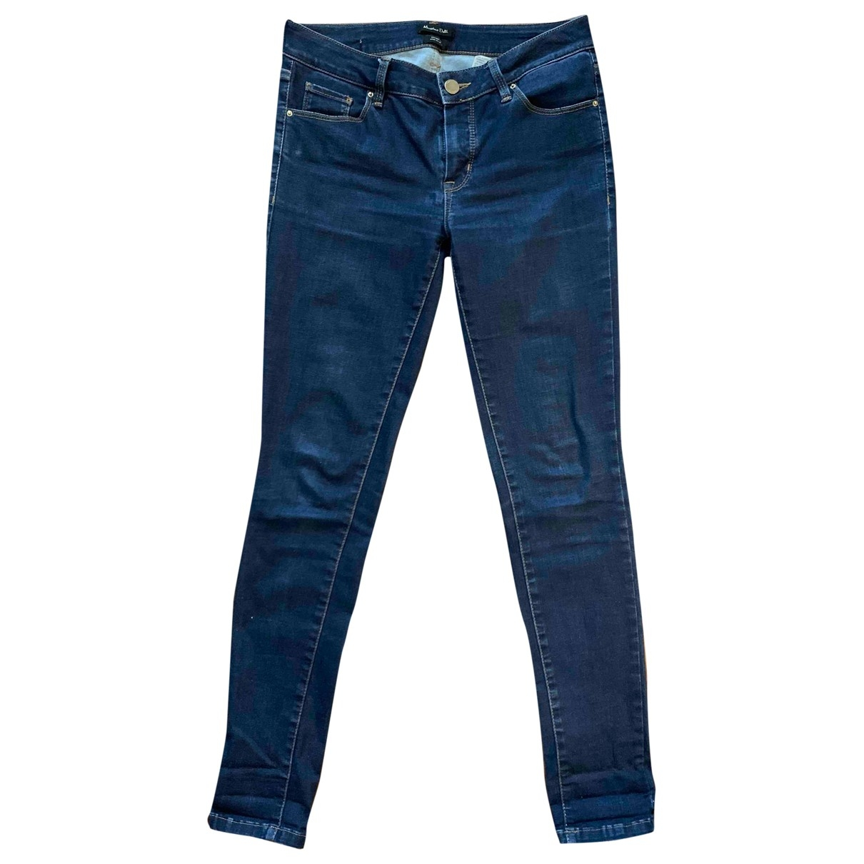 Massimo Dutti \N Blue Cotton - elasthane Jeans for Women 36 FR