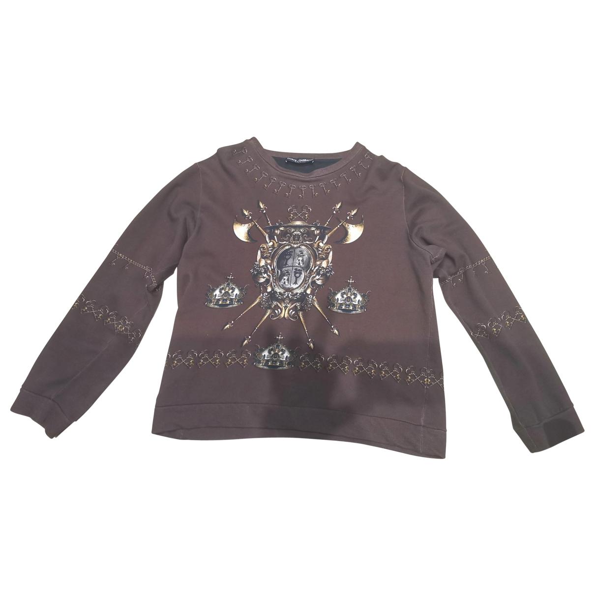 Dolce & Gabbana - Pulls.Gilets.Sweats   pour homme en coton - bordeaux