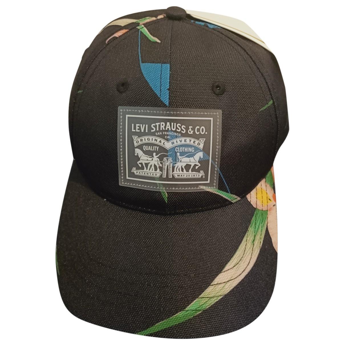 Levis - Chapeau & Bonnets   pour homme en cuir - noir