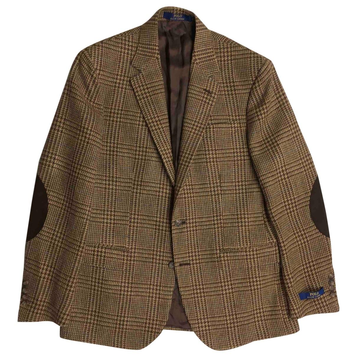 Polo Ralph Lauren - Vestes.Blousons   pour homme en laine - marron