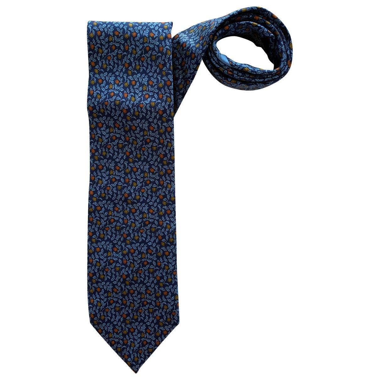 Longchamp \N Krawatten in  Marine Seide