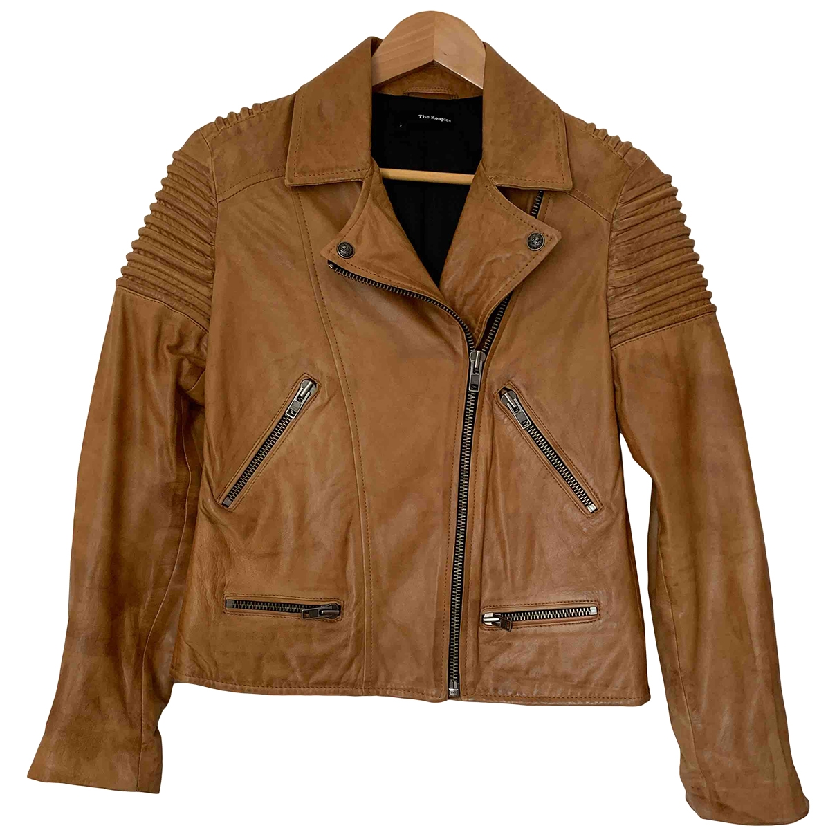 The Kooples \N Camel Leather Leather jacket for Women S International
