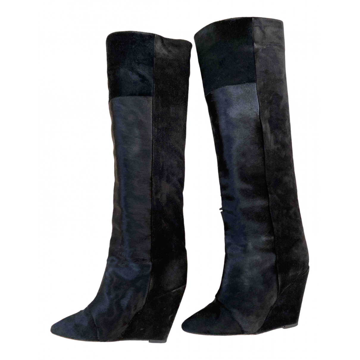 Isabel Marant N Black Pony-style calfskin Boots for Women 38 EU