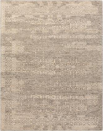 Tunus TUN-2303 9' x 12' Rectangle Traditional Rugs in Medium Gray  Charcoal