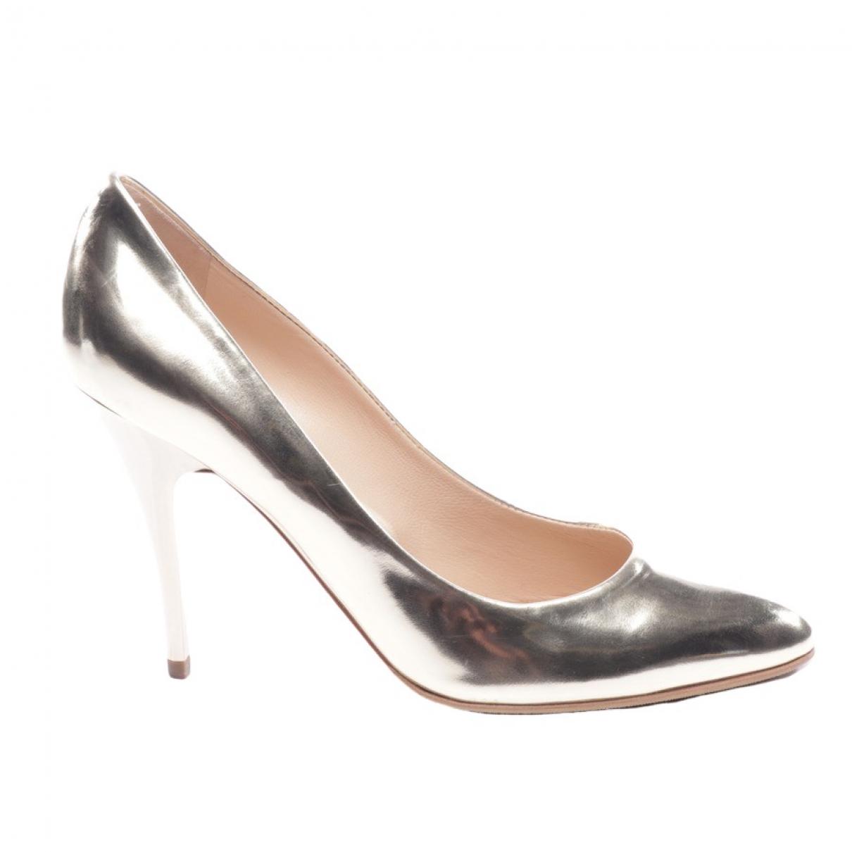 Giuseppe Zanotti \N Metallic Leather Heels for Women 37.5 EU