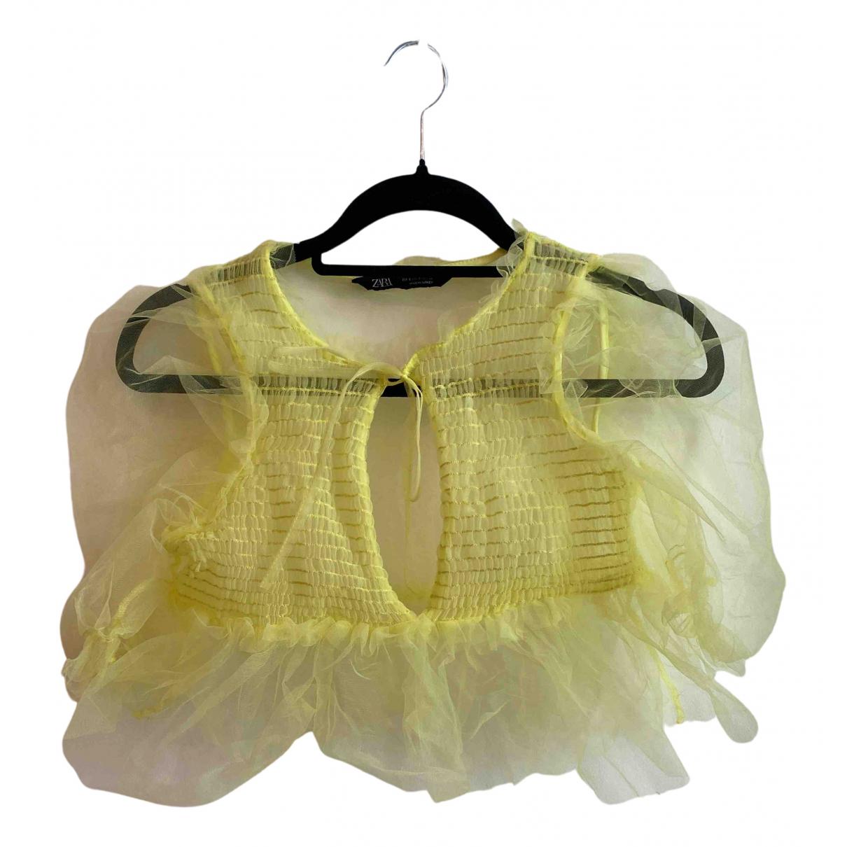 Zara \N Top in  Gelb Synthetik
