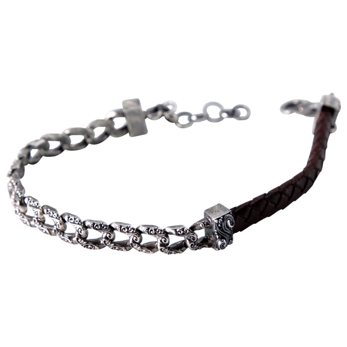 Non Signé / Unsigned Gourmette Silver Silver Jewellery for Men \N