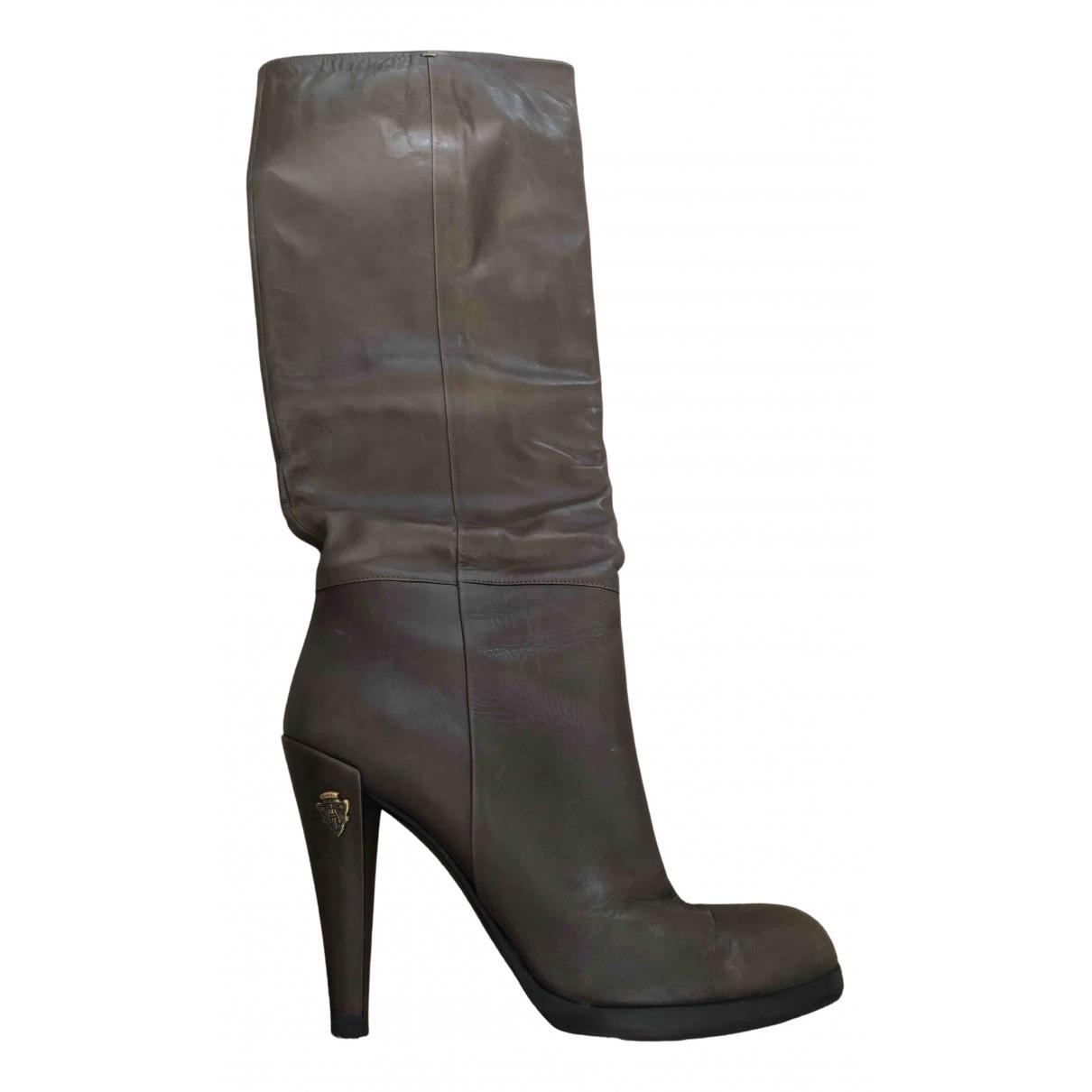 Gucci \N Stiefel in  Grau Leder