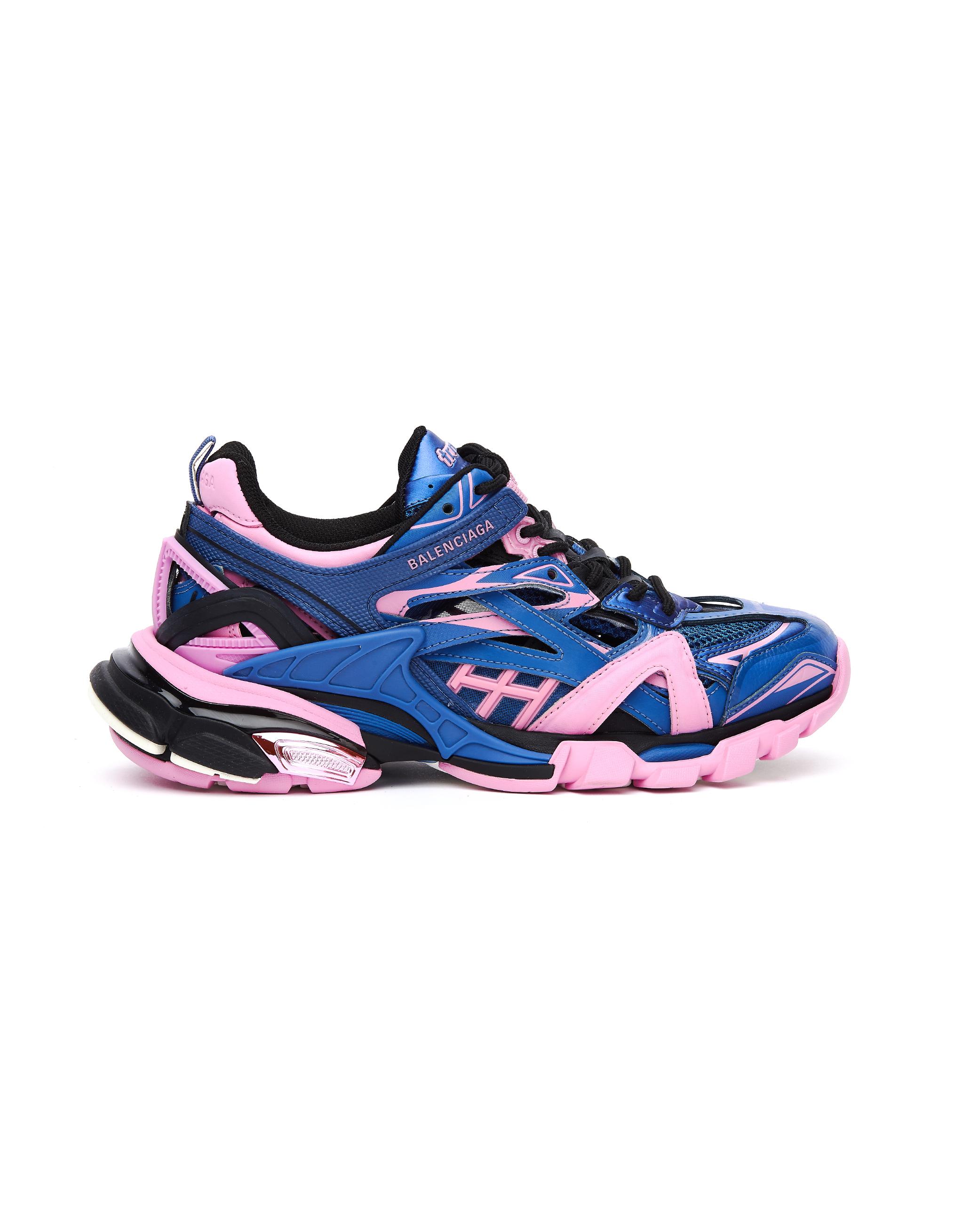 Balenciaga Blue & Pink Track 2 Sneakers