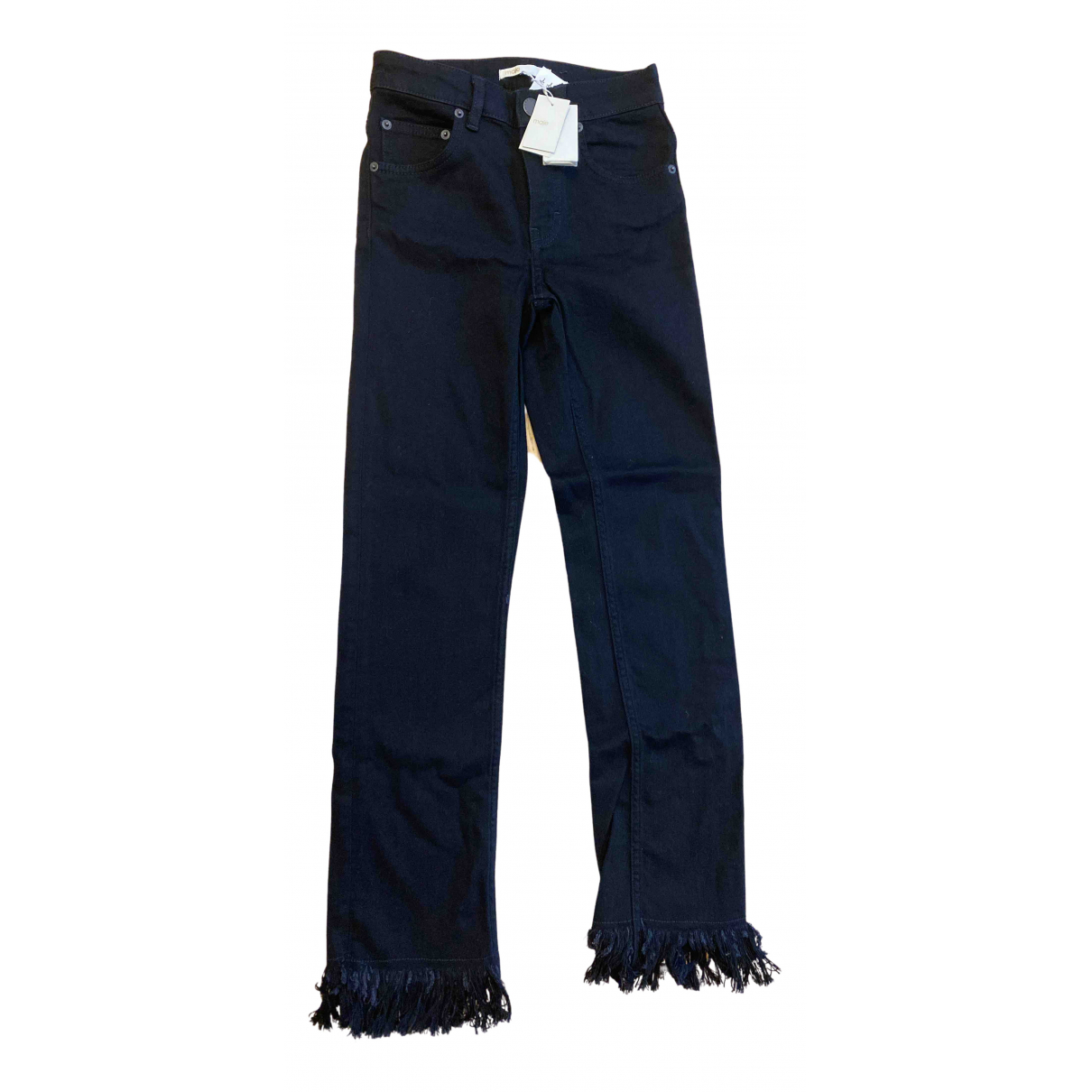 Maje N Black Denim - Jeans Jeans for Women 34 FR
