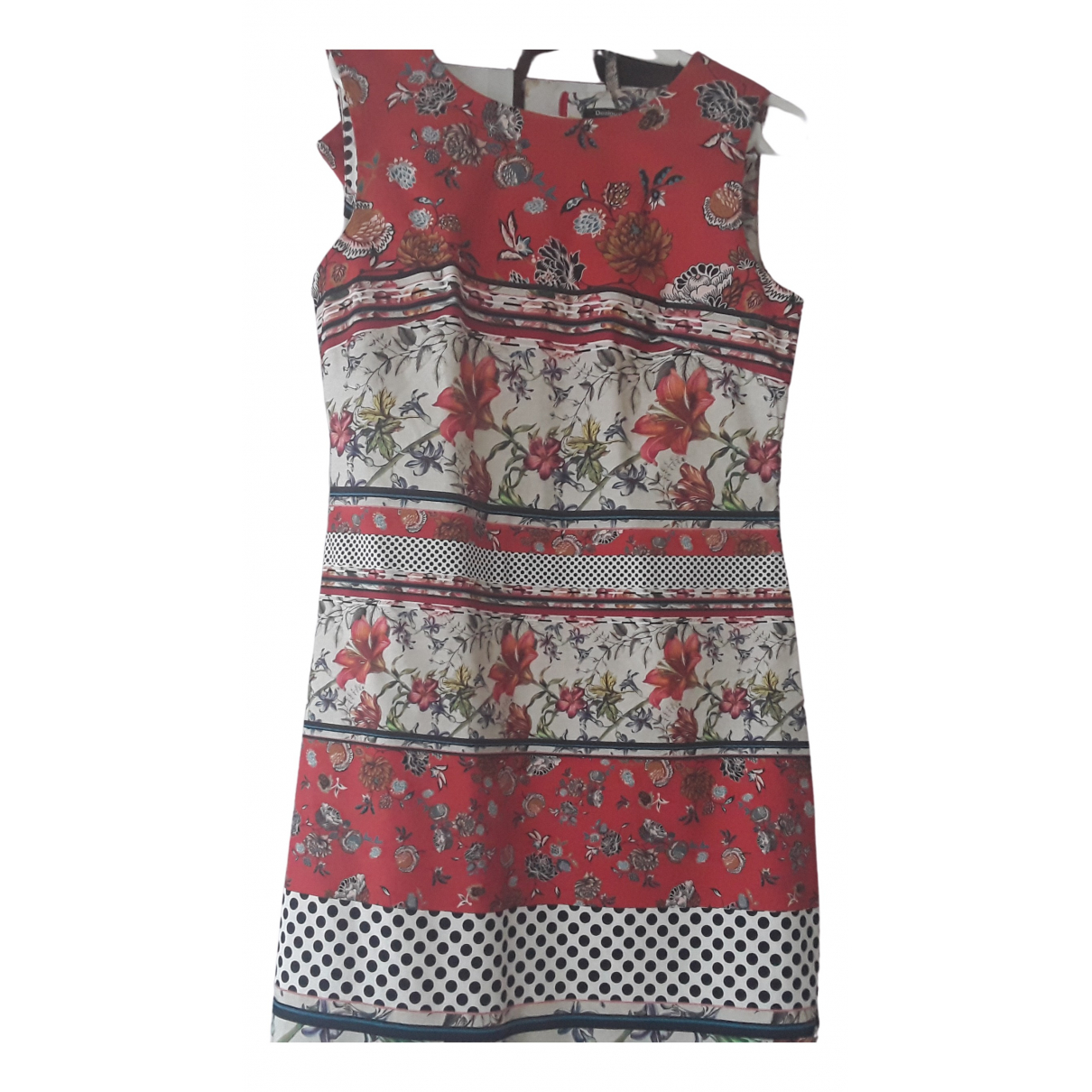 Desigual \N Kleid in  Rot Baumwolle - Elasthan