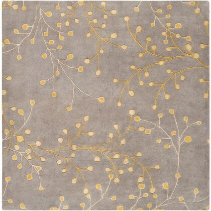 Athena Collection ATH5060-6SQ Square 6' Area Rug  Hand Tufted with Wool Material in Grey and Neutral