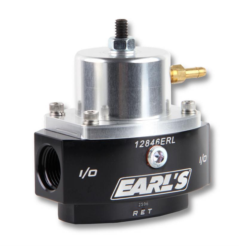 Earl's Performance 12846ERL EARLS EFI FP REG, ADJ 15-65 PSI 8AN IN/OUT 6AN RTN