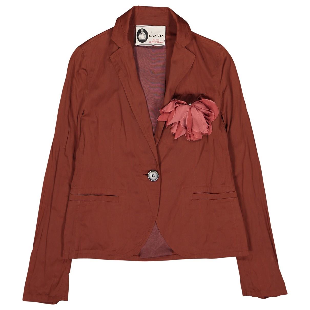 Lanvin - Veste   pour femme en coton - marron