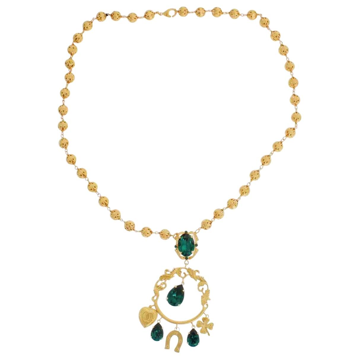 Dolce & Gabbana \N Kette in  Gruen Kristall