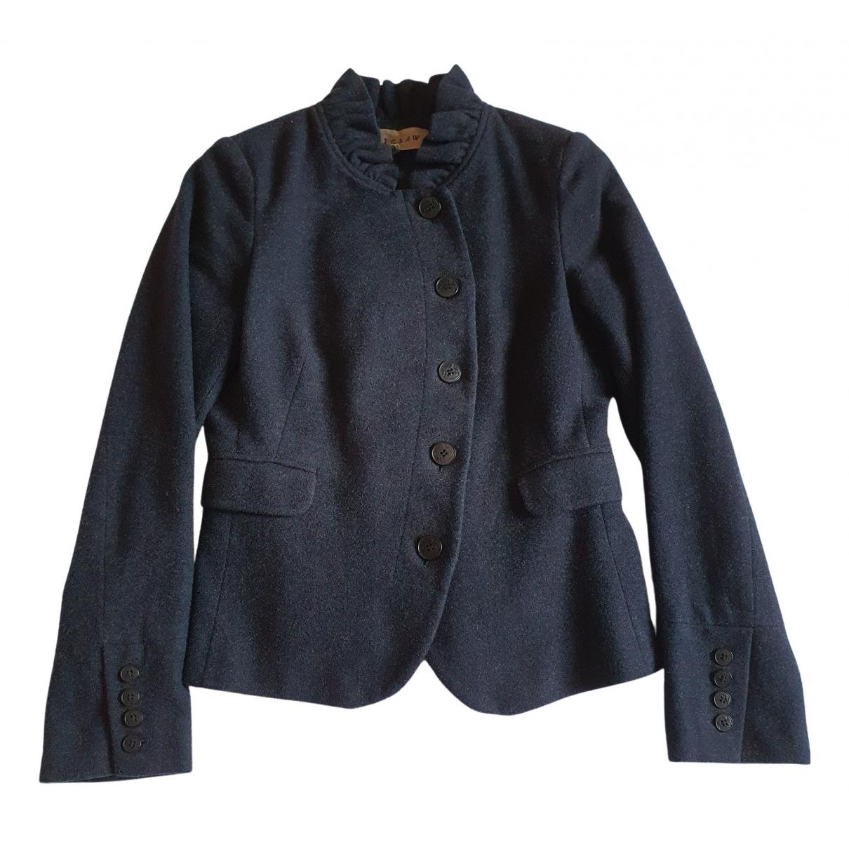 Jigsaw \N Blue Wool jacket for Women 10 UK