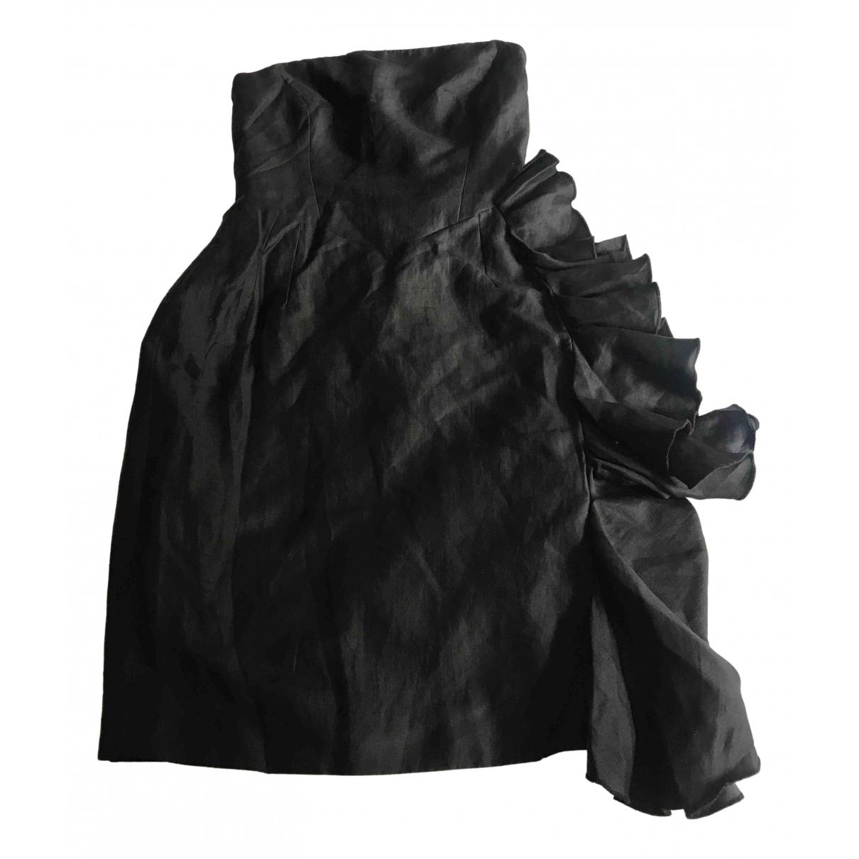 Whistles - Robe   pour femme en lin - noir