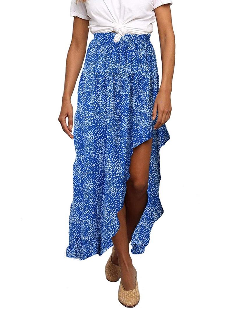 Ericdress Asymmetrical Ankle-Length Floral Travel Look Womens Skirt