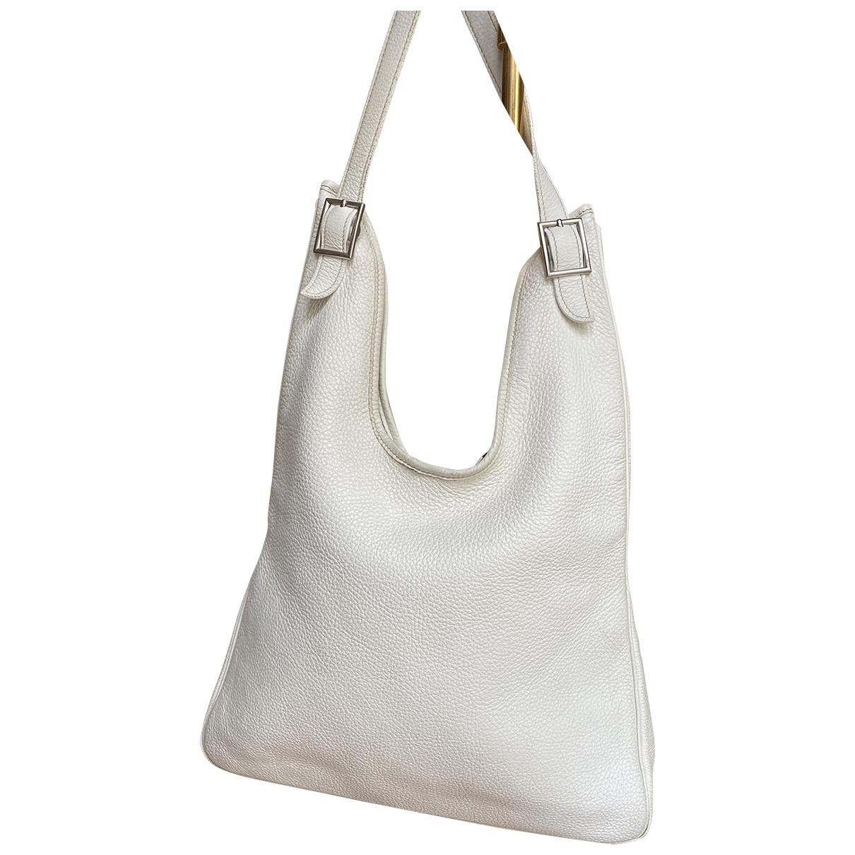 Hermes - Sac a main Massai pour femme en cuir - blanc