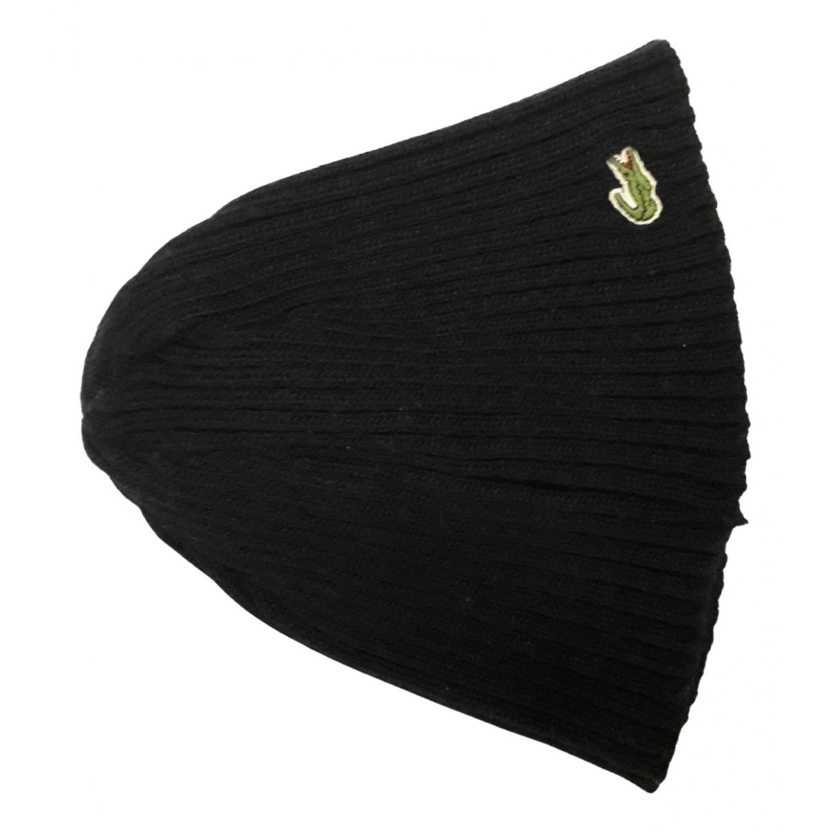 Lacoste - Chapeau & Bonnets   pour homme en laine - bleu