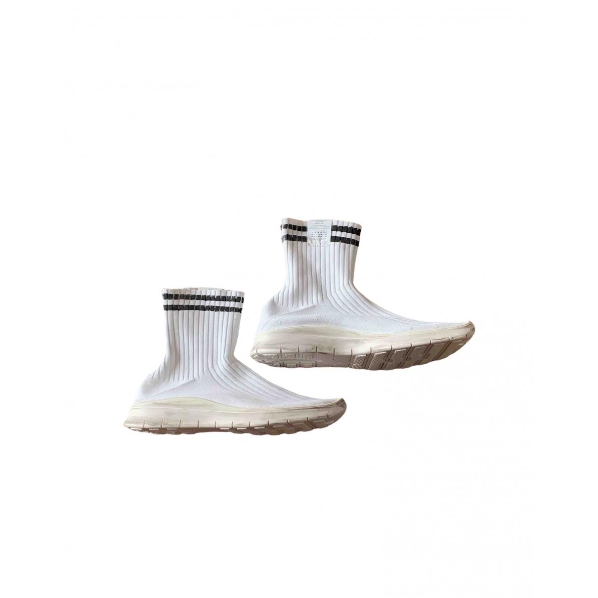 Maison Martin Margiela - Baskets   pour homme en toile - blanc