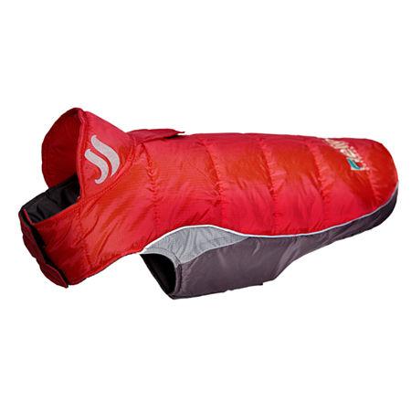 The Pet Life Helios Hurricane-Waded Plush 3M Reflective Dog Coat w/ Blackshark technology, One Size , Red