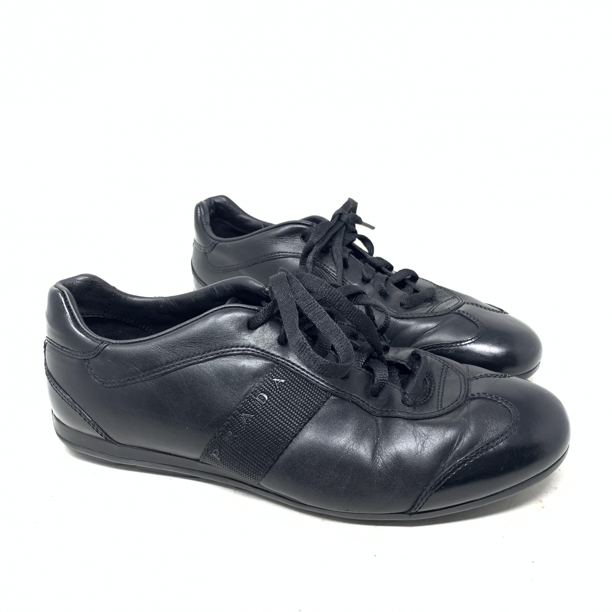 Prada \N Black Leather Trainers for Men 40 EU