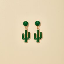 Ohrringe mit Kaktus Anhaenger