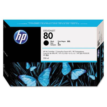 HP 80 C4871A Original Black Ink Cartridge 350ml