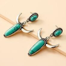 Turquoise Charm Drop Earrings