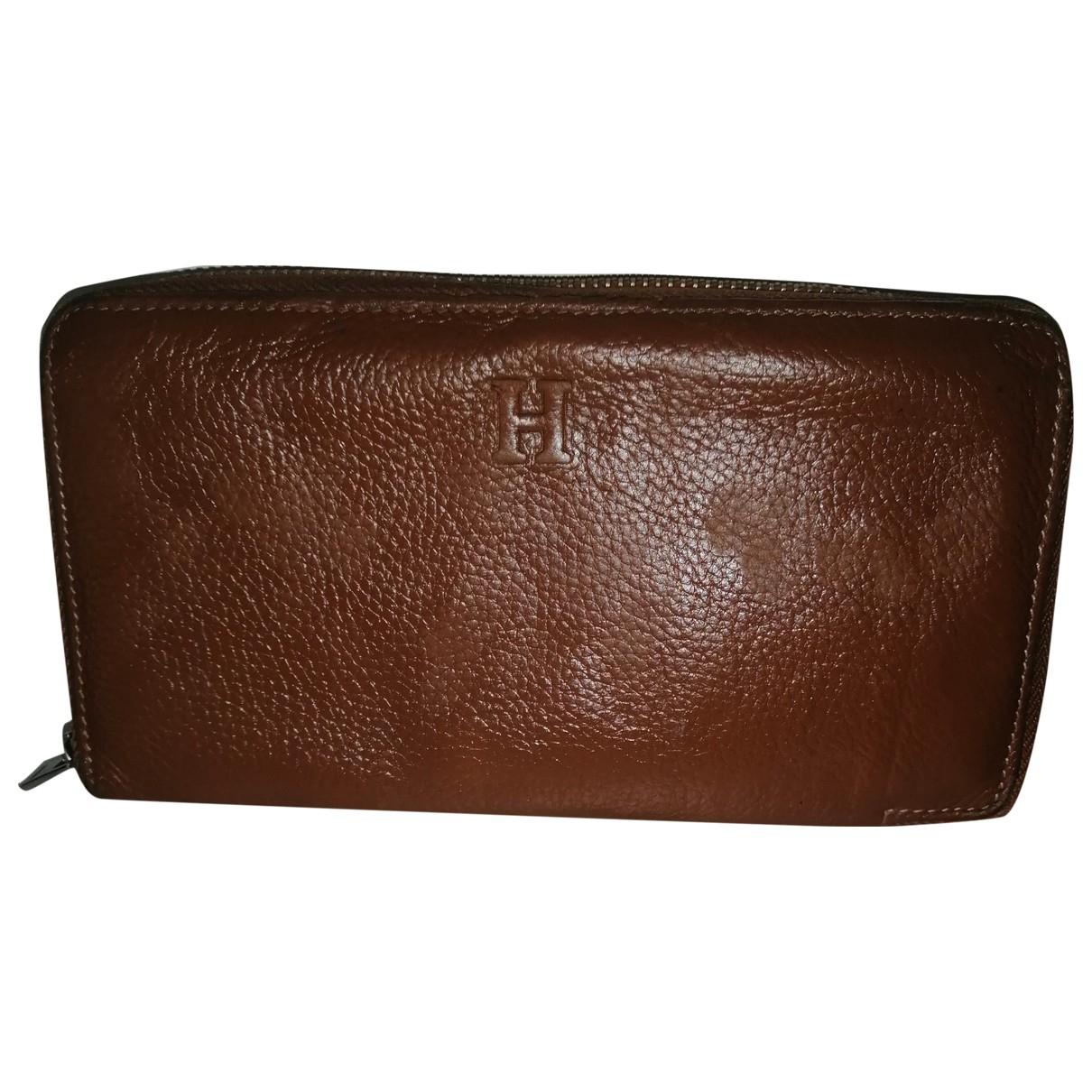 Hermes - Portefeuille Azap pour femme en cuir - marron