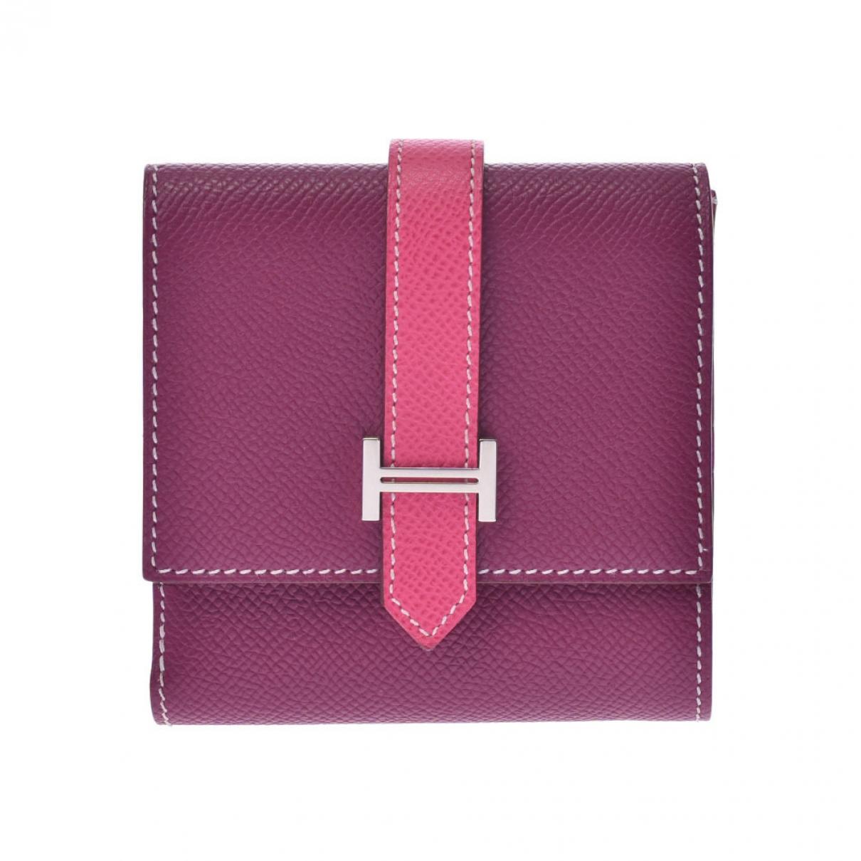 Hermès Béarn Pink Leather wallet for Women \N