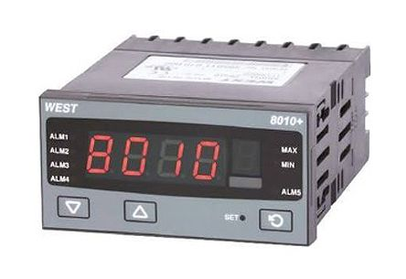 West Instruments P8010 PID Temperature Controller, 96 x 48 (1/8 DIN)mm, 1 Output Relay, 100 V ac, 240 V ac Supply