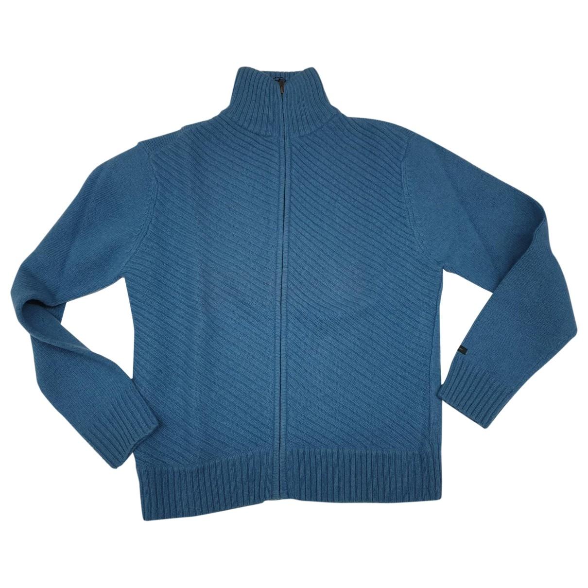 Non Signe / Unsigned \N Pullover.Westen.Sweatshirts  in  Blau Wolle