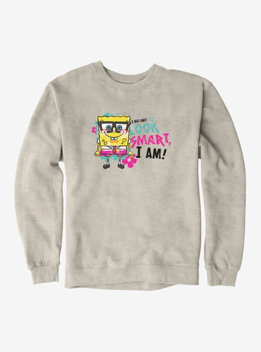 SpongeBob SquarePants Look Smart Am Smart Sweatshirt