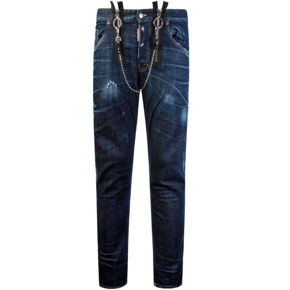 Dsquared2 Buckle Skater Jeans Blue Colour: BLUE, Size: 36 30