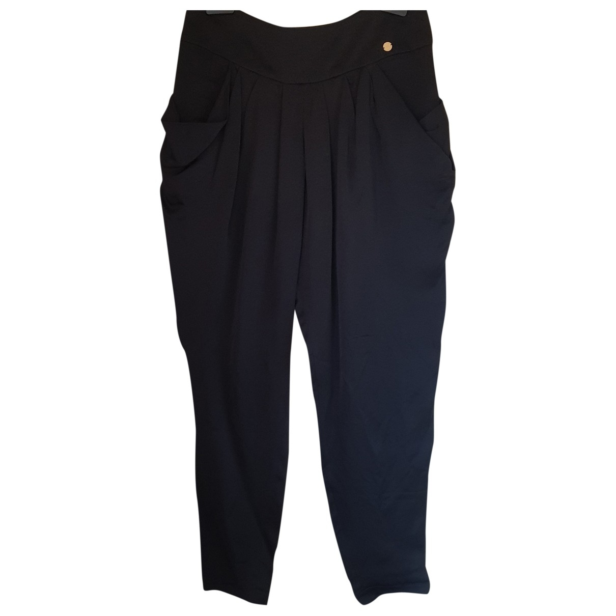 Elisabetta Franchi \N Black Trousers for Women 42 IT