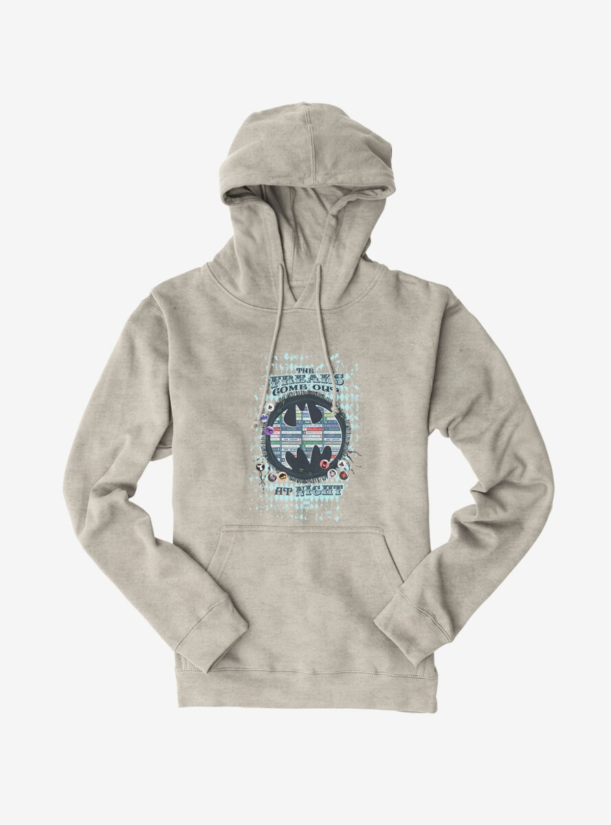 DC Comics Batman Freaks Come Out At Night Hoodie
