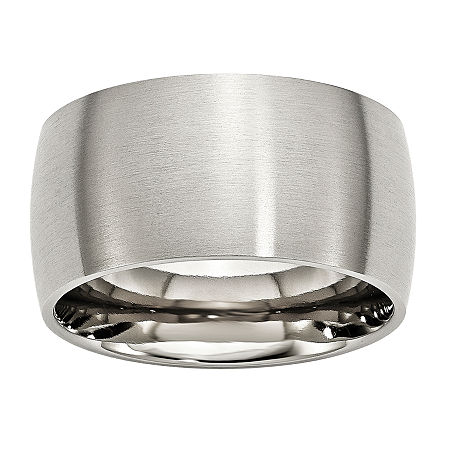 Mens 12Mm Stainless Steel Wedding Band, 14 , No Color Family