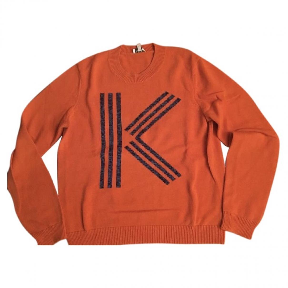 Kenzo - Pull   pour femme en coton - orange