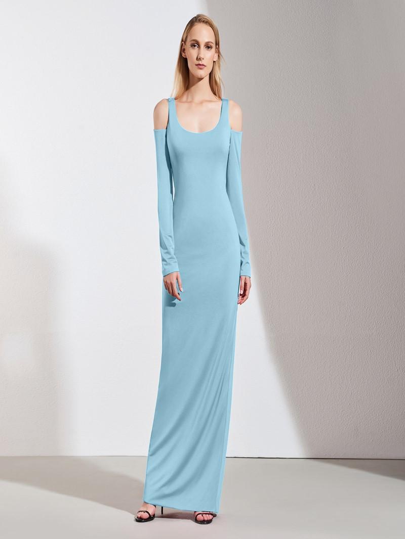 Ericdress Sheath Long Sleeve Long Evening Dress