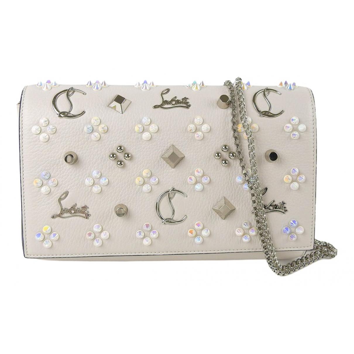 Christian Louboutin \N Handtasche in  Weiss Leder