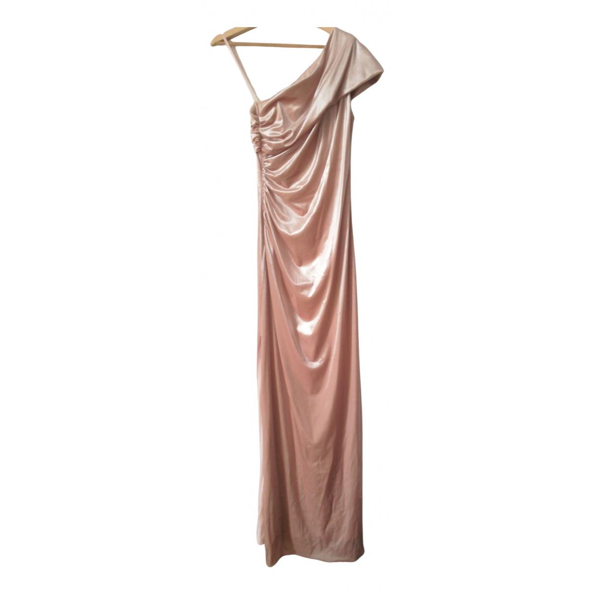 Non Signe / Unsigned \N Kleid in  Rosa Samt