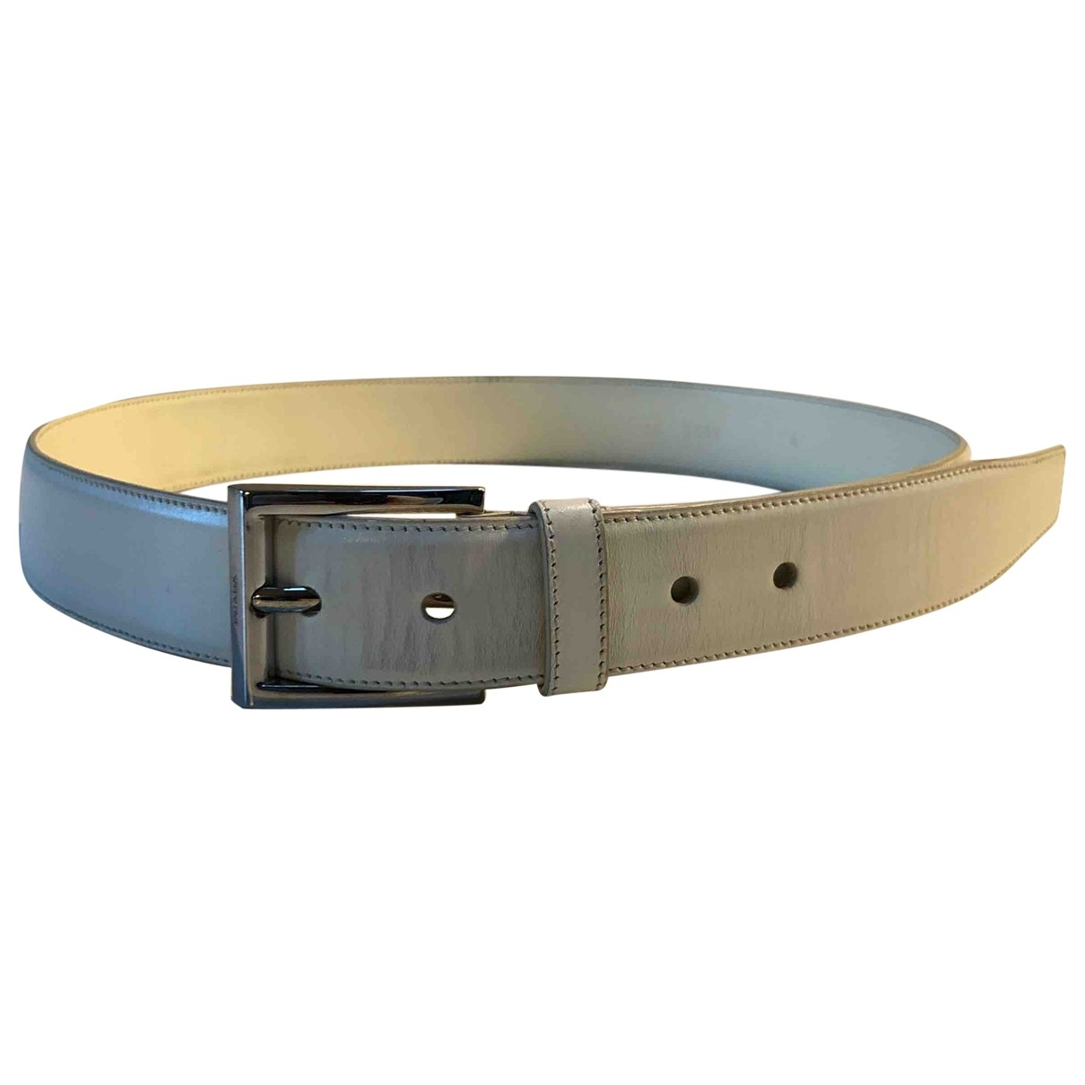 Prada \N White Leather belt for Men 90 cm