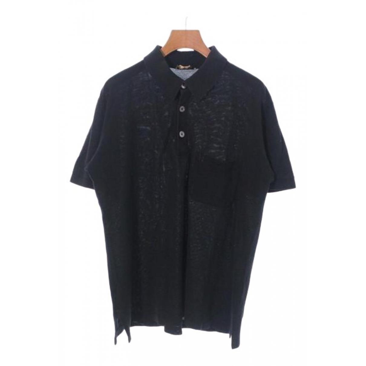 Hermes - Polos   pour homme en coton - noir