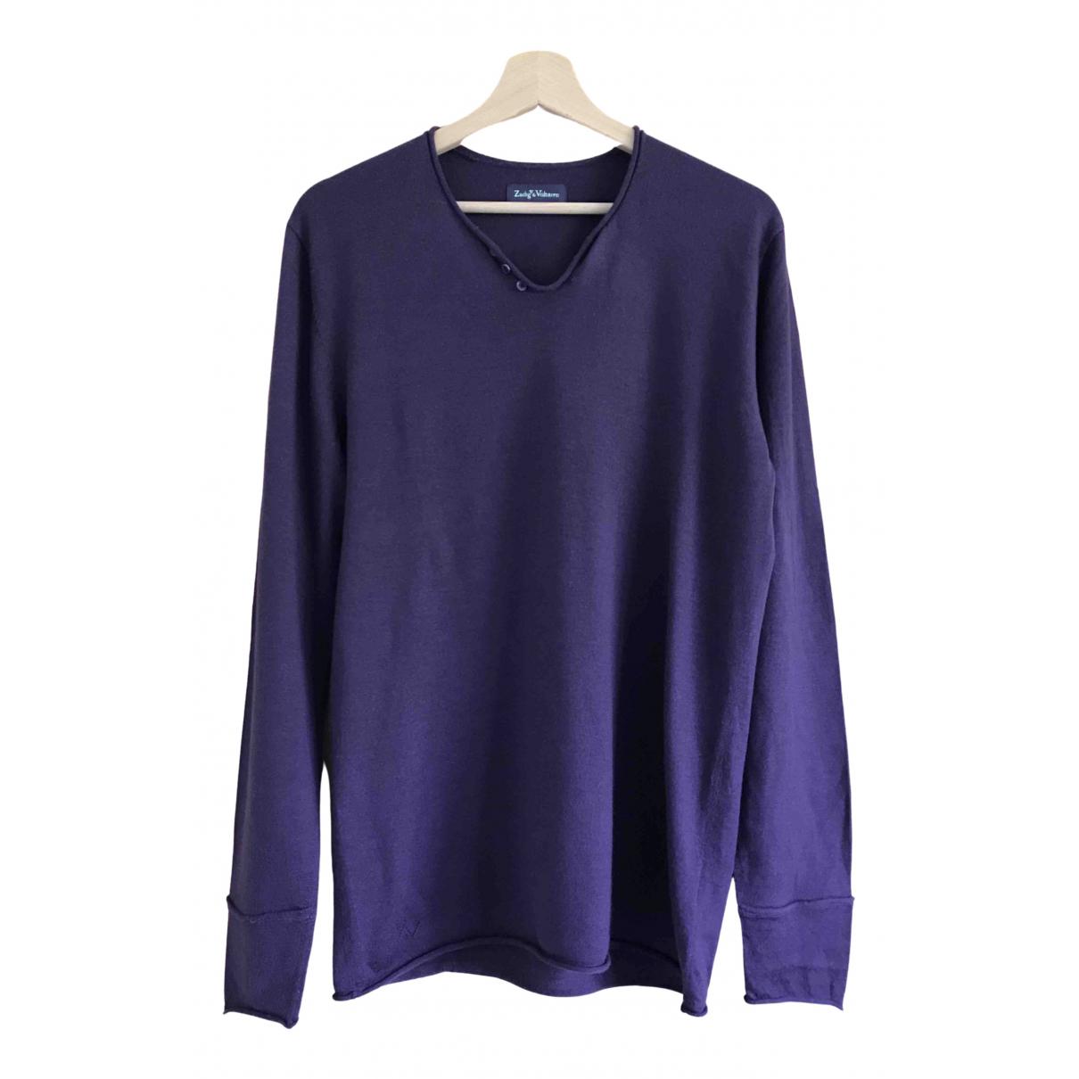 Zadig & Voltaire - Pulls.Gilets.Sweats Fall Winter 2019 pour homme en laine - violet